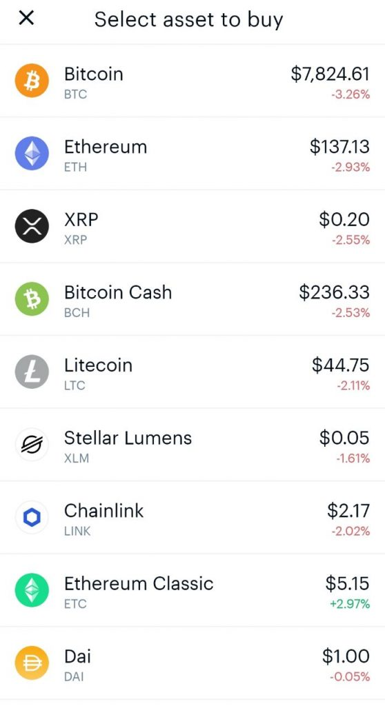 Coinbase available coins